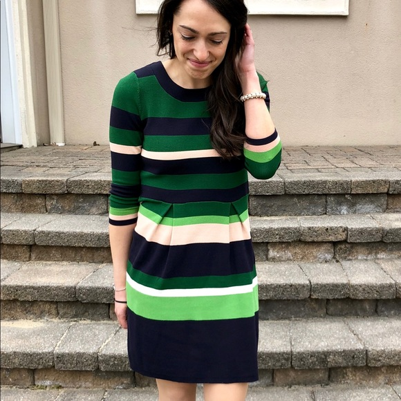 Ann Taylor Dresses & Skirts - Green and blue striped dress